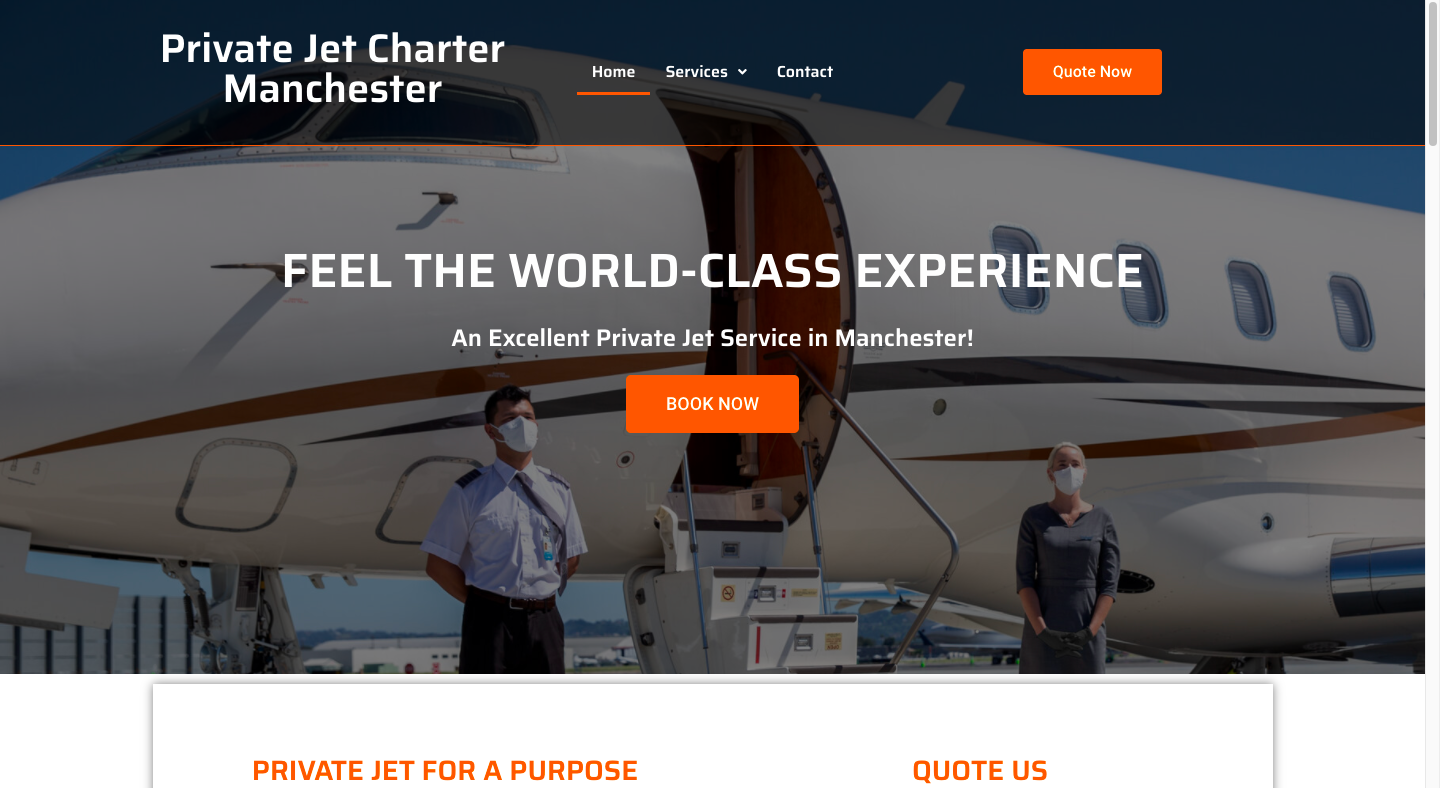 Private Jet Charter Manchester