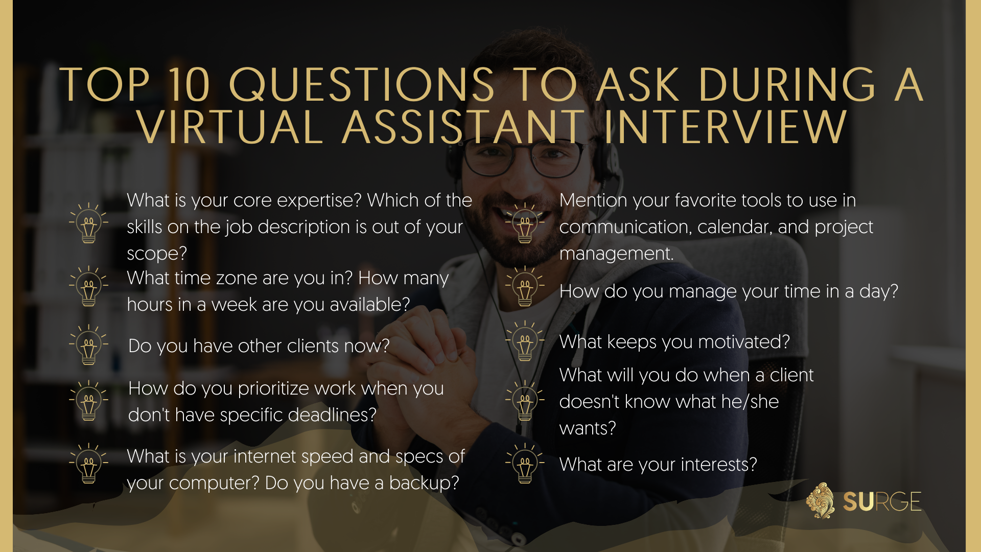 Tips About Top 10 Questions to Ask a Virtual Assistant During the Interview